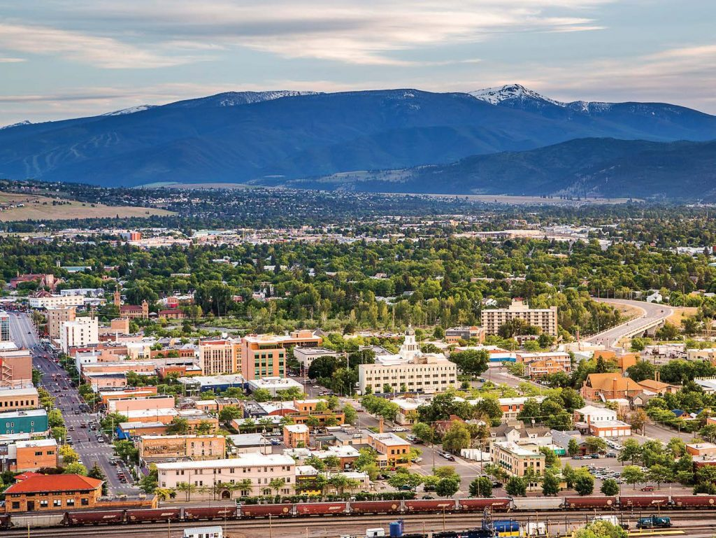The only designated city in Missoula County, the city of Missoula maintains a small-town feel while offering residents and visitors varied big-city amenities. (Photo by Mark Mesenko)