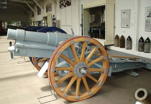 Pictured is a restored German howitzer located in a museum. Norwich, Conn., plans to restore its own howitzer soon. (Photo provided)
