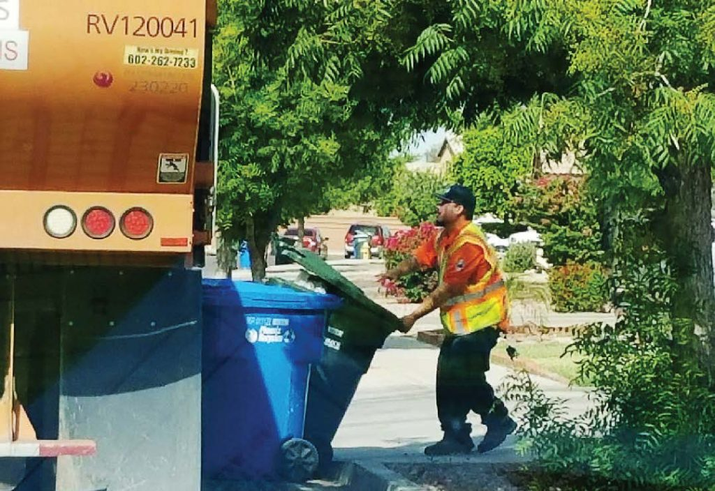 Apprentices learn the ins and outs of solid waste collection during the yearlong program. (Photo provided)