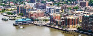 The waterfront district of Yonkers, N.Y., has had a lot of economic development with high rise housing attracting millenials to the city to live, work and play. (Photo provided by Yonkers)