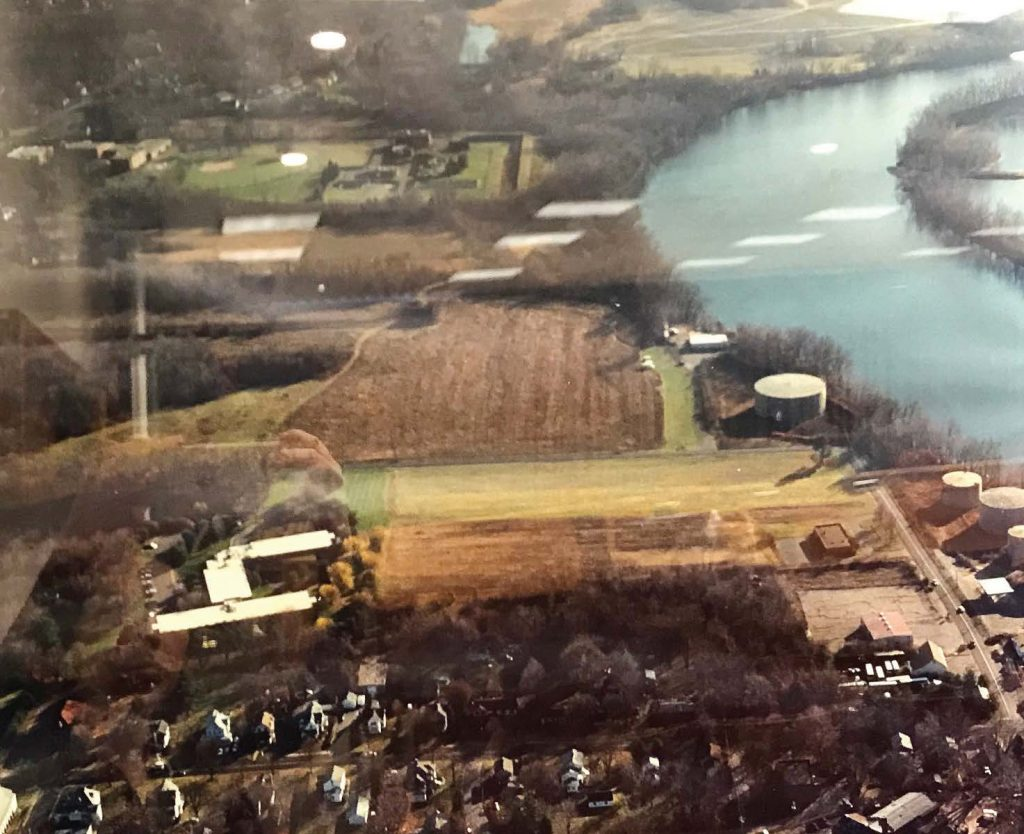 Prior to the plans for Riverfront Park, acres of desirable waterfront land was home to an environmentally contaminated oil storage and distribution facility. However, due to its tie to the shipping industry in Glastonbury, the town was able to save the foundation. (Photo provided by Glastonbury, Conn.)