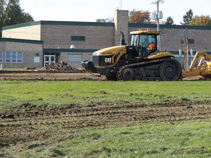 Construction started on building a new Boys and Girls Club facility located on the grounds of Nappanee Elementary School. The project is part of Wa-Nee Vision 2020, a collaboration between the city of Nappanee and several other agencies. (Photo by Denise Fedorow)