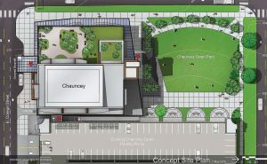 Pictured is an overhead rendering of the Chauncey Project. (Rendering provided by Rohrbach Associates PC Architects)