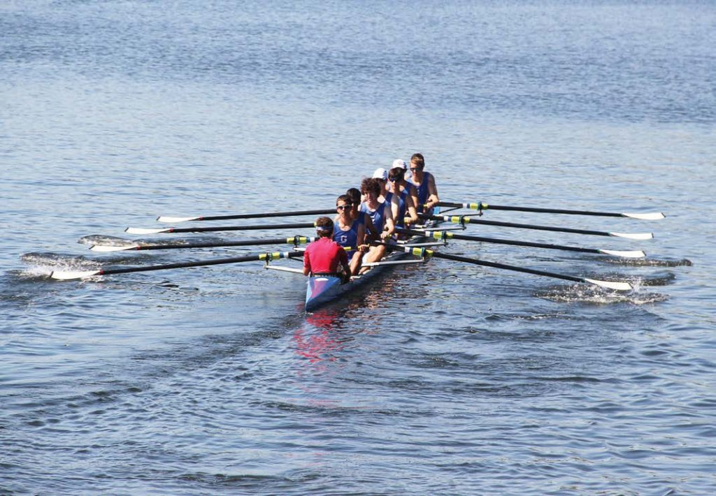 One of the greatest opportunities for community engagement came from Riverfront Park becoming the home of Glastonbury's high school crew team, the Tomahawks. The Friends of the Glastonbury Rowing group assisted with choosing the best location for the boat house, which also provides facilities for the crew team. (Photo provided by Glastonbury, Conn.)