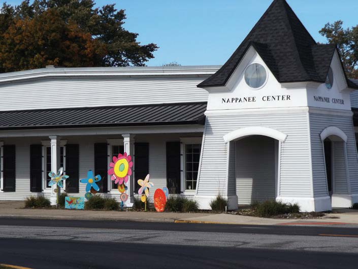 The Nappanee Center was a partnership between Nappanee, the chamber of commerce and the public library. A former furniture store, the Nappanee Center is now home to the chamber of commerce and the city's historical museum, which had outgrown the library. (Photo by Denise Fedorow)
