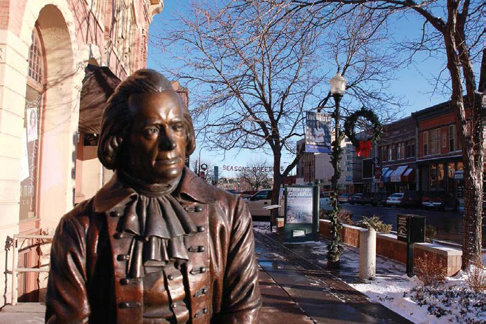 "This bronze statue is one of many that feature the likenesses of past presidents. They were installed in the historic district of downtown Rapid City, S.D. The project, known as ""City of Presidents,"" began in 2000 and was privately funded. (Photo provided)"