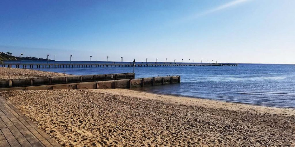 Eric King said he saw similarities in the coastal city of Frankston, Victoria, Australia, which is why he chose the location to visit as part of the ICMA's International Management Exchange program this past August. This photos is of Frankston's beachfront. (Photo provided)