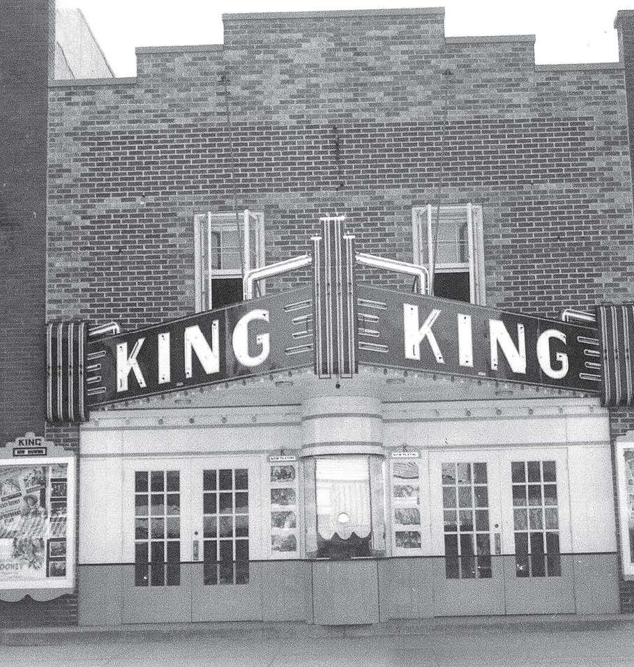 Pictured is the King Theatre as it appeared in the 1950s. Its marquee was added in the '40s. (Photo provided)