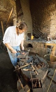 Blacksmith demonstrations are an educational staple at Fort Gaines.
