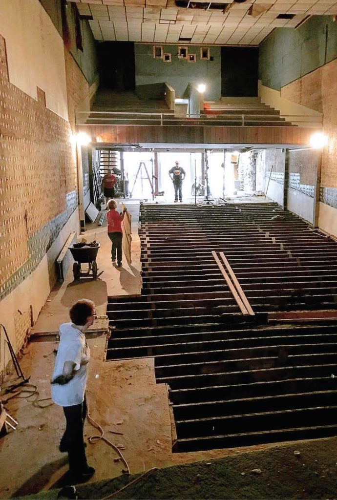 Volunteers turned out in force to help throughout the deconstruction process. The King is being renovated to be more friendly for those who may have disabilities. (Photo provided)