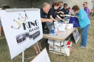A grill-out was hosted at the farmer's market to raise funds for King Theatre's renovation. (Photo provided)