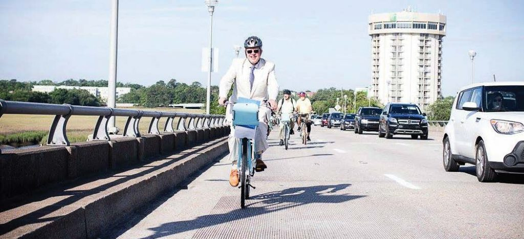 Currently, cyclists and pedestrians travel alongside motor vehicles, which can result in accidents. Charleston County, where Charleston resides, leads the state of South Carolina in bike and pedestrian serious injuries and fatalities. (Photo provided)