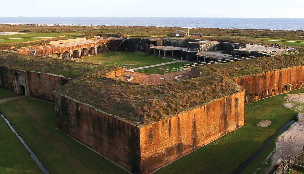 The pentagon-shaped fortress was established in 1819. Construction was completed in 1861. A series of brick-lined tunnels leads to the corner bastions.