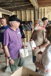 Residents enjoyed popcorn while learning more about the renovation process at King Theatre during the Heritage Days open house. (Photo provided)