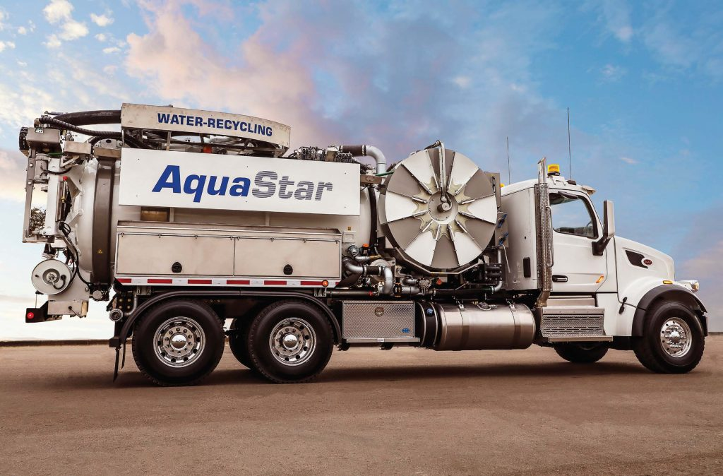 Due to the high pressure system and the hose reel placement, the AquaStar can also be used in Hydrovac applications. (Photo provided)