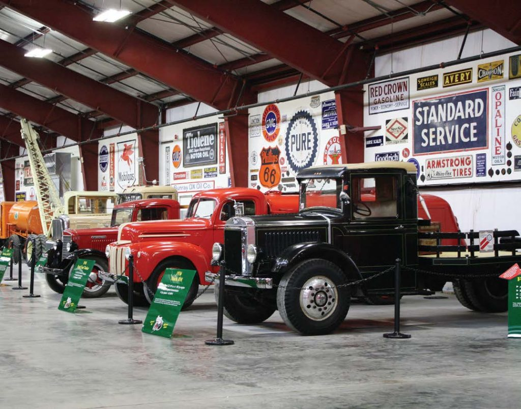 The museum contains more than 100 vintage trucks dating from 1910 to 1968.