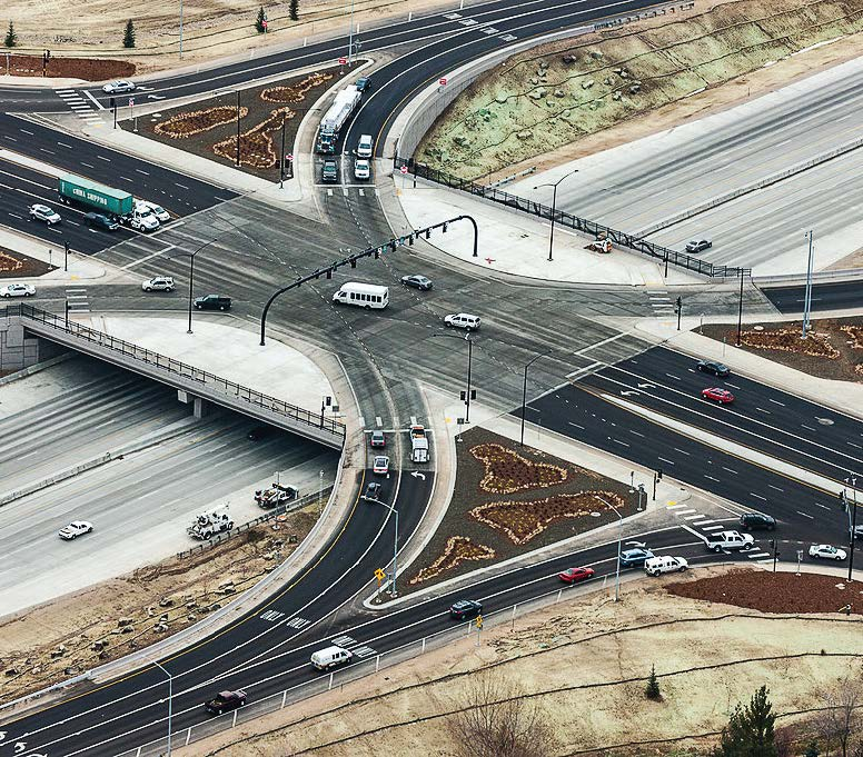 The widening of I-84 is just one of investments that the state of Idaho has put into the interstate over the years, especially as its usage is only expected to grow. Pictured is the I-84 Meridian Road Interchange in Meridian, Idaho, which was updated starting in 2012 to handle 284,000 vehicles per day as Meridian grows. (MeridianIdaho via English Wikimedia Commons; https://creativecommons. org/licenses/by-sa/4.0/deed.en)