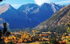 The majestic Cascade Mountains surrounding the town exhibit their unique beauty each season of the year. (Photo courtesy of Leavenworth Chamber of Commerce)