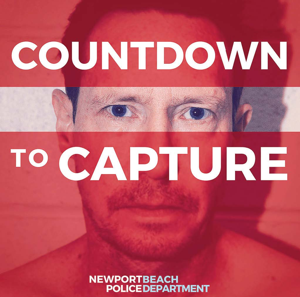 "In September 2018, the Newport Beach Police Department began a podcast called ""Countdown to Capture"" with six episodes to request assistance from the public in locating a fugitive, Peter Chadwick, who is wanted for the murder of his wife. (Photo provided by the Newport Beach Police Department)"