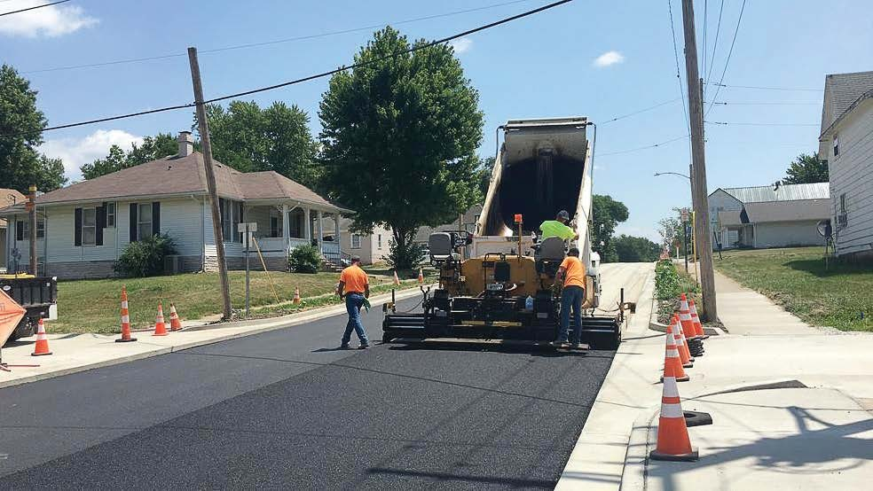 This is the first asphalt Kirksville, Mo., laid on a street from its own asphalt mixing plant. (Photo provided)