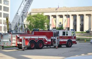 As the leasing plan continues, Rockford, Ill., is most concerned with watching interest rates to ensure that leasing continues to be the best option. Leasing has allowed the city to continue the necessary replacement of fleet vehicles, including this new ladder truck. (Photo provided by the city of Rockford, Ill.)