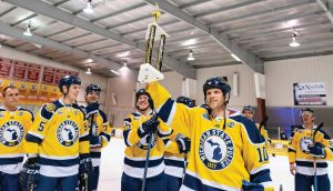 The winners of the 2019 hockey Battle of the Badges in Jackson County, Mich., were the Michigan State Police officers. (Photo provided)