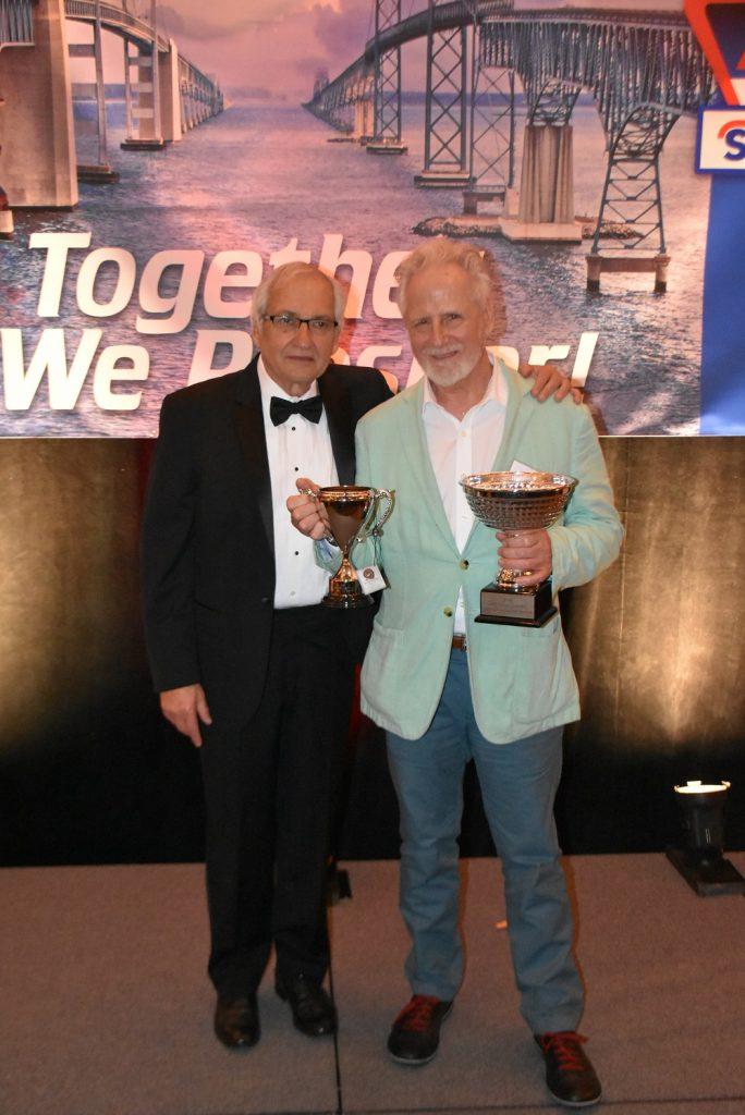 Aspire Program award recipient, Peter Haralovich, (right) president of Safetylane Equipment Corporation (USA Lift) with Stertil-Koni USA President, Dr. Jean DellAmore