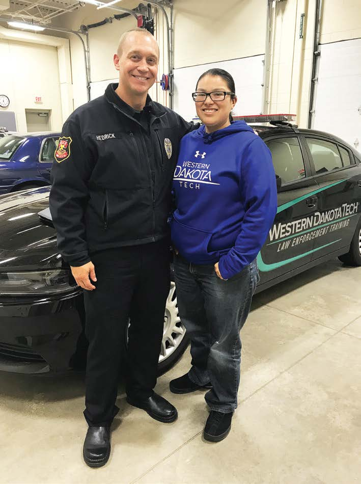 Rapid City, S.D.'s, Assistant Police Chief Don Hedrick was partnered with Cecilia White Eagle in the Akicita Mentorship Program through Western Dakota Technical Institute. Hedrick has arranged for White Eagle to shadow officers on day-to-day operations of the force so she can discern whether law enforcement is the career she'd like to pursue after college. (Photo provided)