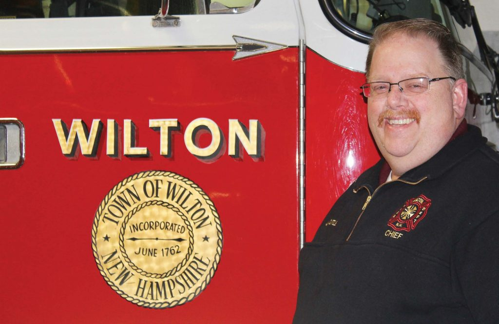 Jim Cutler serves as Wilton, N.H., Fire Department's chief. He does this while also holding a full-time managerial position at Amherst Label in Milford, N.H. (Photo provided)