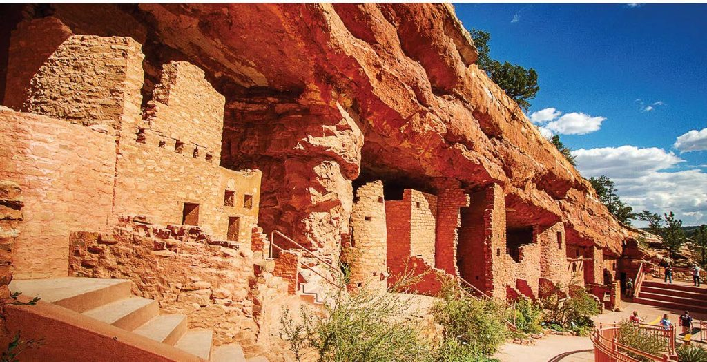 The 40-room Anasazi cliff dwellings were moved brick by brick more than 300 miles to Manitou Springs and opened to the public in 1907.