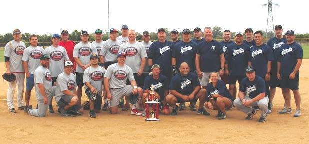 Lewisville, Texas, hosts a Battle of the Badges softball tournament, which pits the fire department against the police department. (Photo provided)
