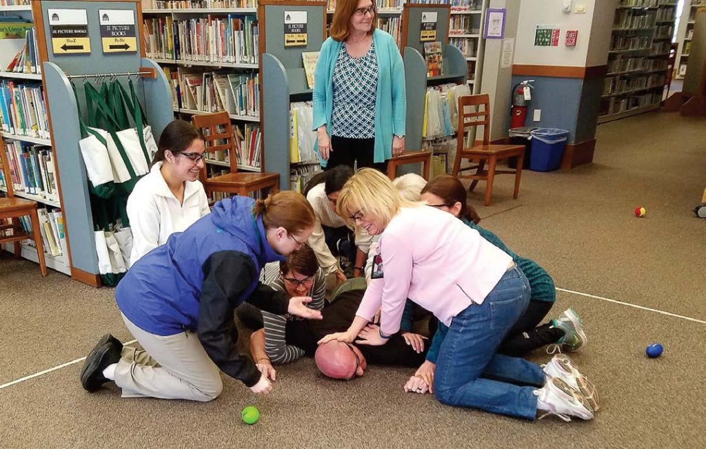 Participants learn the concepts of distraction and swarming as a last resort measure. (Photos provided)