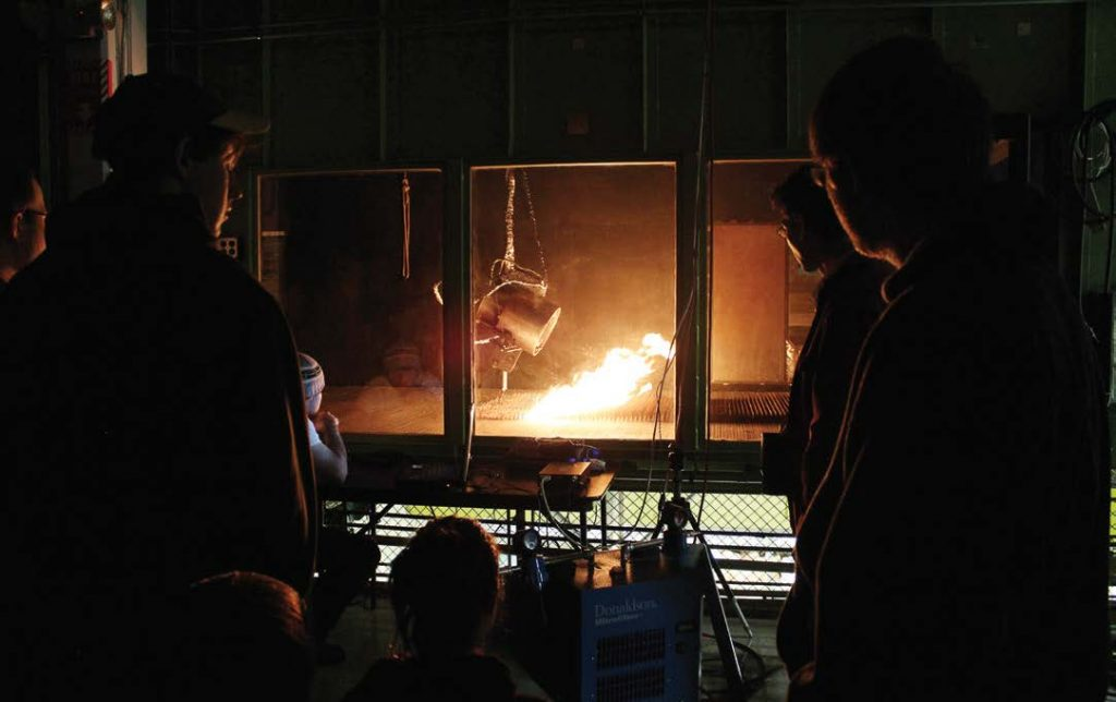 The Fire Lab is the only federal research lab dedicated to focusing its research on wildfires. The burn chamber assists those studying wildfires to see different ways that the wind can affect a fire's route. (Photo provided by USDA Forest Service, Missoula Fire Sciences Lab)
