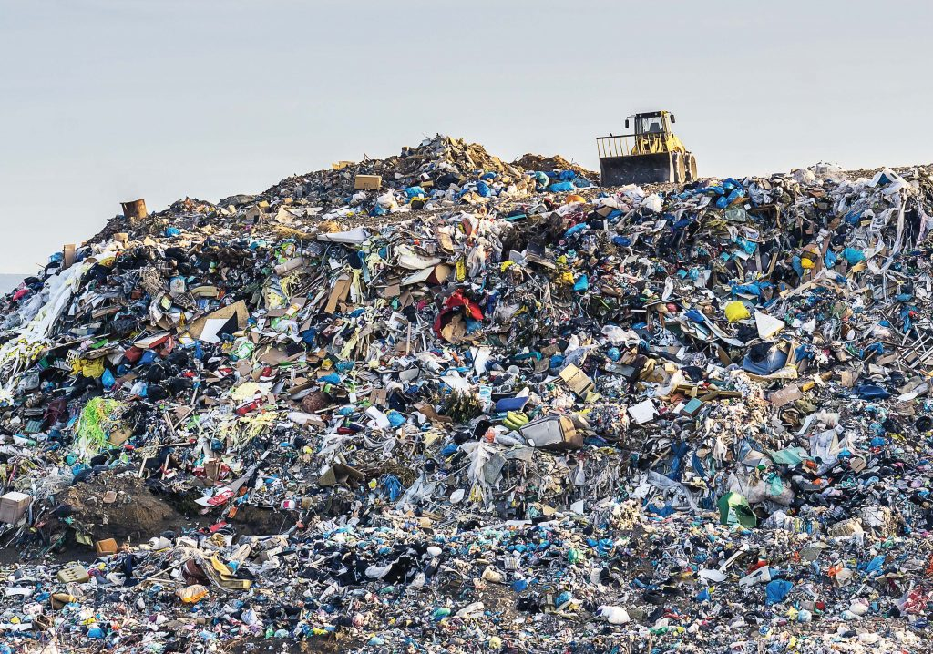 Americans on average throw out 4.4 pounds of trash per day, and food waste takes up 15 to 30 percent of landfill space. Food waste, however, could be turned into energy. (Shutterstock.com)