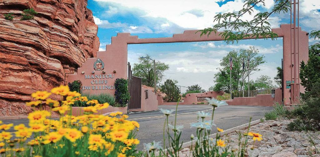 The modern entrance beckons 175,000 visitors a year to the millennia-old cliff dwellings.