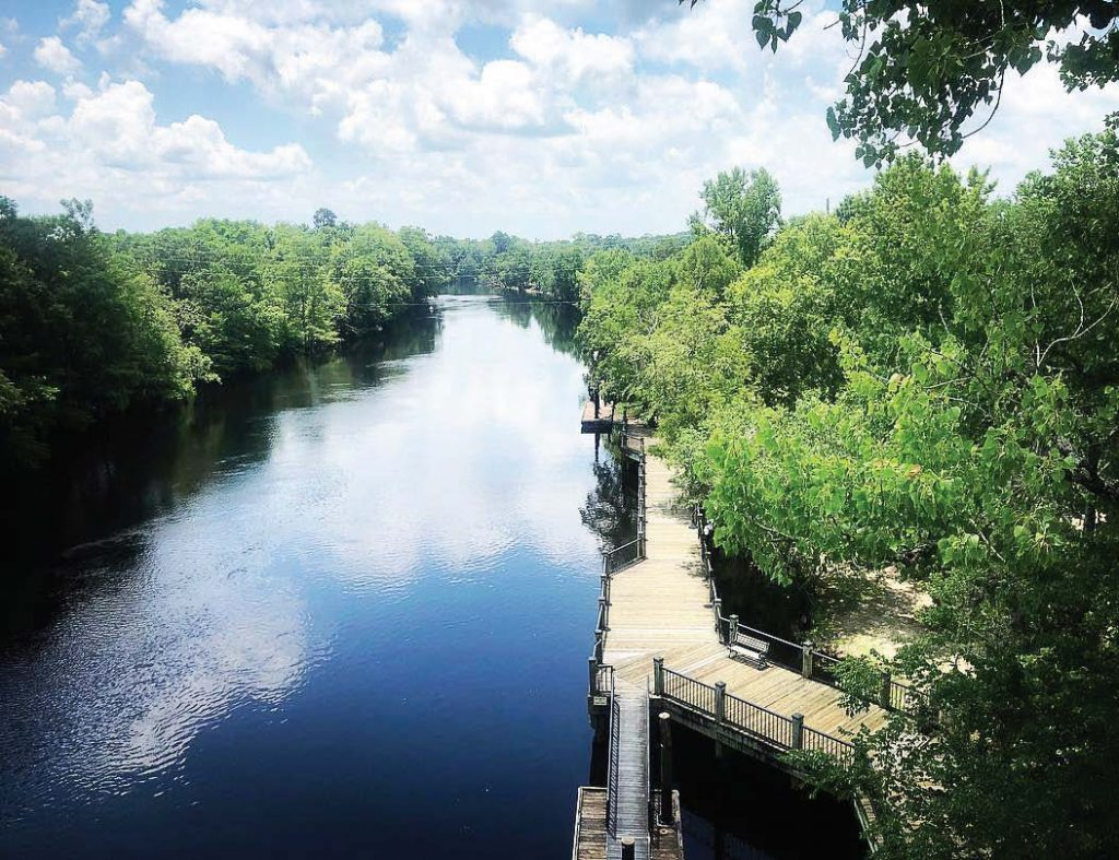 For greater longevity, the riverwalk was constructed from extra thick decking to prevent decay from flooding. The current boards are at the end of their lifespan and will be replaced before summer with boards that use newer treated lumber techniques. (Photo provided)