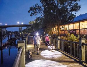 The riverwalk offers the perfect opportunity for recreation. It is also located near plenty of restaurants. (Photo provided)