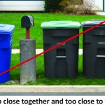 Recycling Carts are too close together and too close to mailbox