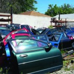 These auto parts have been reclaimed to use again, rather than being sent to a landfill
